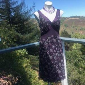 Tahari Arthur S Levine purple dress. Size 6.